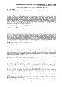 merkeziyetçi - Dumlupınar Üniversitesi