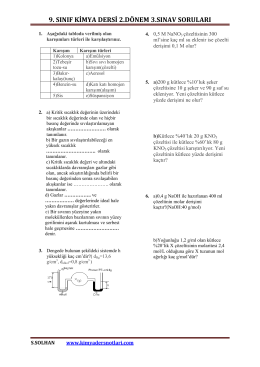 İndir (PDF, 364KB) - Kimya Ders Notları