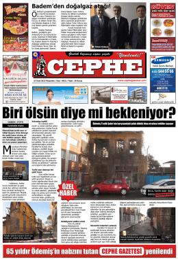 22.01.2015 Tarihli Cephe Gazetesi