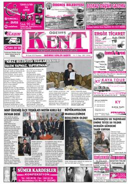 05-01-2015 Tarihli Kent Gazetesi