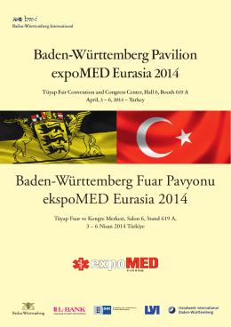 Baden-Württemberg Pavilion expoMED Eurasia 2014