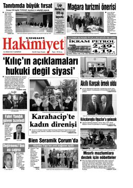 26 nisan.qxd - Çorum Hakimiyet Gazetesi