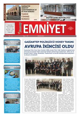Ocak-Şubat 2014 Sayı:37 Yıl:2 - Gaziantep Emniyet Müdürlüğü