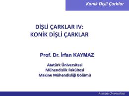 Konik Dişli Çarklar - Mehmet Adem Yıldız