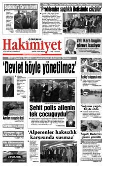 (29 eyl\374l.qxd) - Çorum Hakimiyet Gazetesi