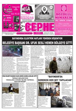 05.01.2015 Tarihli Cephe Gazetesi