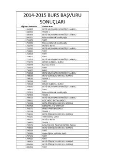 2014-2015 burs başvuru sonuçları