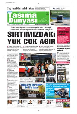 Taşıma Dünyası Gazetesi-164 PDF 1 Aralık 2014 tarihli sayısını
