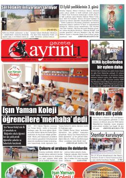 10 eylül 2014 çarşamba - Polatlı Gazete Ayrıntı