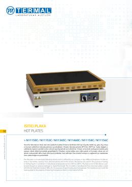 ısıtıcı plaka hot plates - Termal Laboratuvar Aletleri