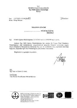 TELEFON ZiNCiRi - mersin - mezitli ilçe millî eğitim müdürlüğü