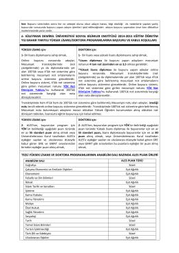 a- süleyman demirel üniversitesi sosyal bilimler enstitüsü 2014