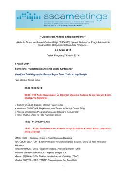 Uluslararası Akdeniz Enerji Konferansı