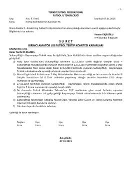 (1.a.l.) kararı - Türkiye Futbol Federasyonu