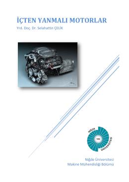 İçten yanmalı Motorlar - Makine Mühendisliği Bölümü