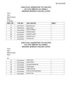 mbl 24lü liste - Dokuz Eylül Üniversitesi
