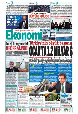 21 MART 2014 - Ekonomi Gazetesi