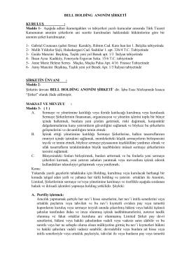 PDF indir - Bell Holding
