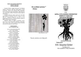 17. Sosyoloji Günleri Programı - Sosyoloji Bölümü