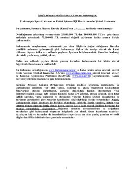 TS Sportif Sermaye Artırımı Henüz Onaylanmamış