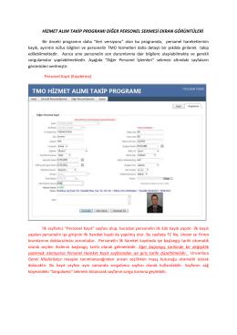 Yardım Broşürü - tmo hizmet alımı takip programı