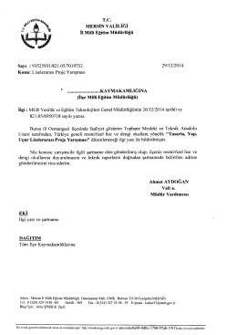 ıT^TTr - tarsus ilçe millî eğitim müdürlüğü