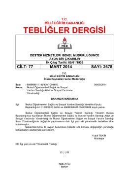 2678 Mart 2014 - Yükseköğretim Kurulu