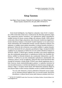 Ayşe Buğra, Osman Savaşkan, Türkiye`de Yeni Kapitalizm