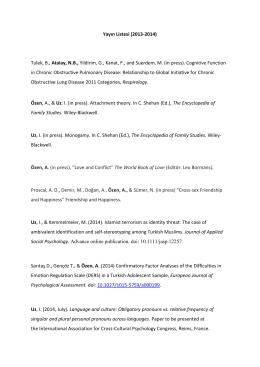 Yayın Listesi (2013