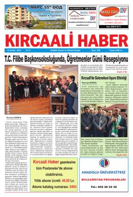 Sayı 258/2014 - Kırcaali Haber