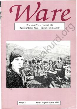 Pöseroka Zon t Kulturö Ma Zeitschrift ftir Zaza - Sprache und