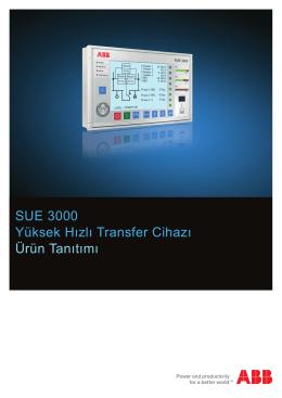 SUE 3000 Yüksek Hızlı Transfer Cihazı Ürün Tanıtımı