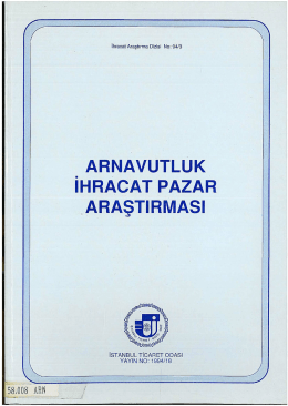 ARNAVUTLUK IHRACAT PAZAR