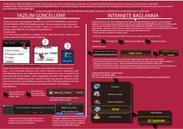 yazılım güncelleme internete bağlanma
