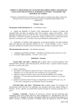 approval procedure of facılıtıes regarding hıdes and skıns of