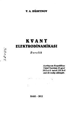 e[ektrodınamıkası - SDU-nun Elektron Kitabxanası