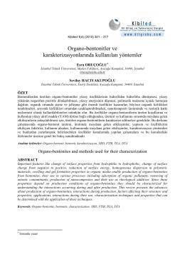 Organo-bentonitler ve karakterizasyonlarında