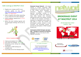 B2B meetings at MACFRUT 2014 - AİA