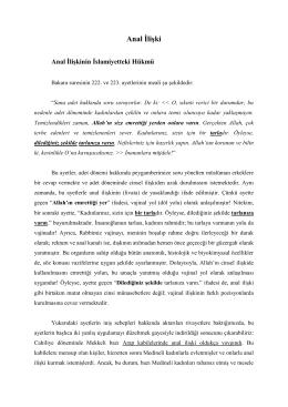 Anal İlişki - Alimallah.net