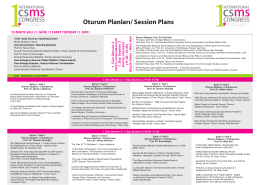 International CSMS Congress Session Plans