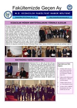 Fakültemizde Geçen Ay - Marmara Üniversitesi