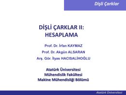Dişli Çark_hesaplamalar_2013