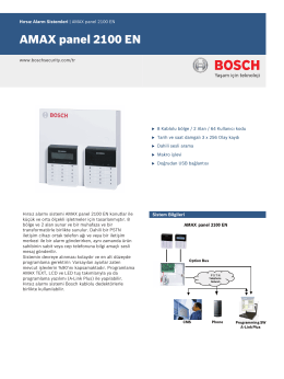 AMAX panel 2100 EN - Bosch Security Systems