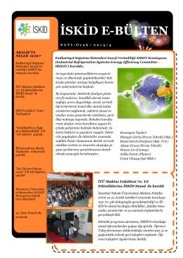 İSKİD e-Bülten 2015 Ocak Sayımız Yayınlandı ( İndirmek için