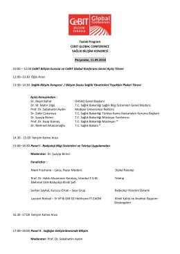 CeBIT Sağlık Bilişim Kongresi 2014 Programı