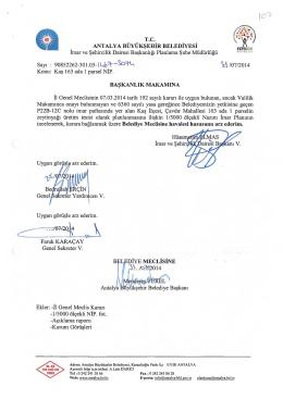 - tttt/CH f . V T - Antalya Belediyesi