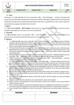 bg.pr bilgi güvenliği disiplin prosedürü