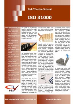 Risk Yönetim Sistemi ISO 31000