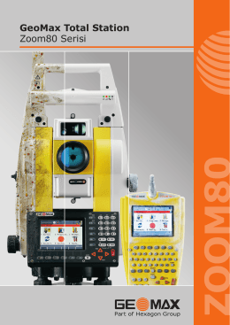 GeoMax Total Station Zoom80 Serisi
