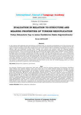 evaluation in relation to structure and meaning properties of turkish